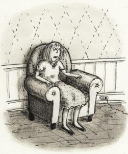 Roz Chast self-portrait (credit Roz Chast)cartoon
