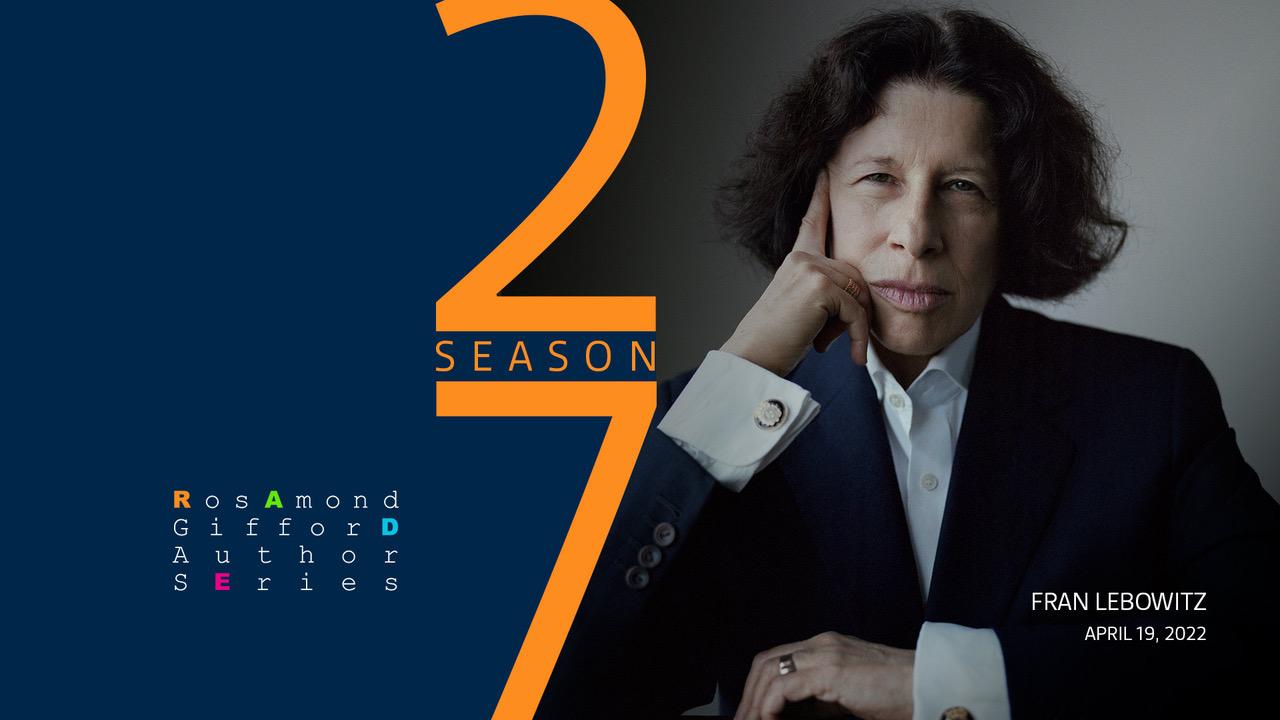 Fran Lebowitz Event April 19, 2022